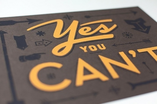Yes You Can't - Seth Nickerson #typography