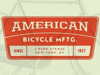 Dribbble - ABM by Rich Gustke #bicycle #abm #american #1927 #orange #mftg #york #new