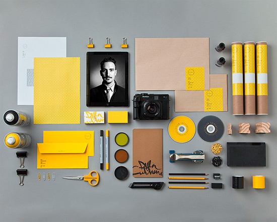Dylan Culhane Identity and Collateral by Ben Johnston | Inspiration Grid | Design Inspiration #branding #yellow #stationary #collateral