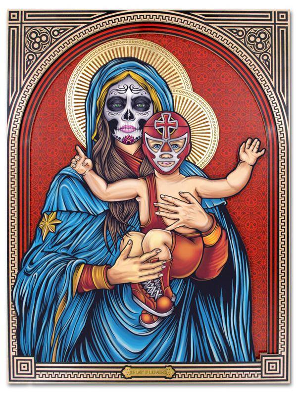 'Our Lady of Luchadores' on Behance #of #the #mexican #day #dead #holy #lady