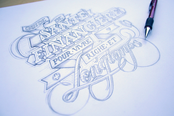 a+ on the Behance Network #drawn #hand #typography