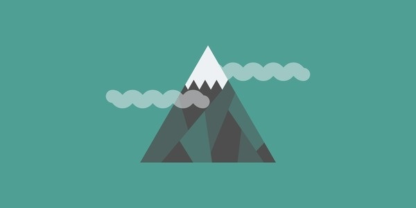 Mt Whitney #flat #vector #design #illustration #mountains
