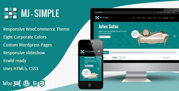 MJ Simple - Resonsive woocommerce Theme #interior #woocoomerce #template #cyan #shop #design #responsive #ecwid #theme #ecommerce #furniture #mobile #wordpress #blue #ready #online