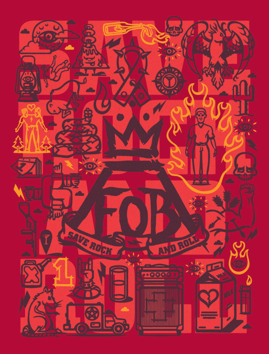 Fall Out Boy #boy #fall #out #illustration #poster