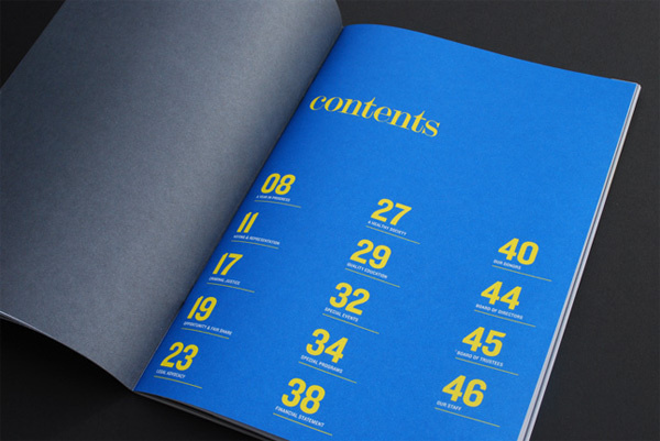 NAACP Annual Report #content #typepography #page #annual #report #type