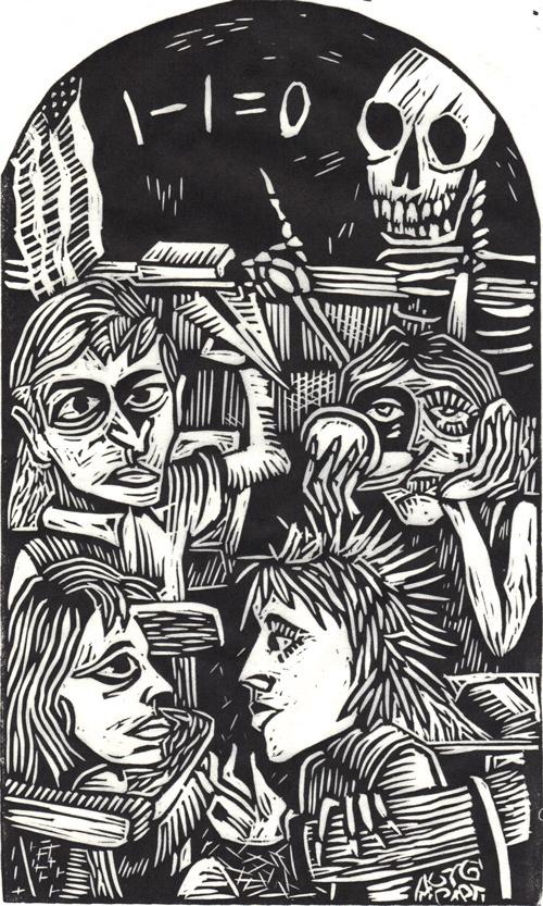 The Linocut Dance of Death - 50 Watts