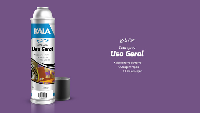 Tinta Spray KALA #ink #packaging #color #product #spray #package