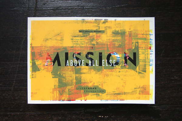 Annual Report Book #screenprint #book #annual #cover #report #livestrong