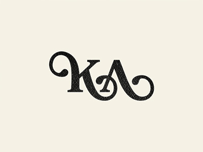 K/A Monogram #mark #lettering #script #icon #monogram #typograpy #logo
