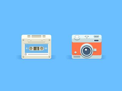 Super Simple Icons #flat #illustration #cameras