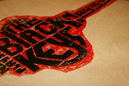 Doug Sheets | Black Keys Poster #letterpress #poster