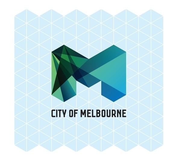 CITY OF MELBOURNE - Jason Little #geometric #grid #system #triangle #identity #melbourne