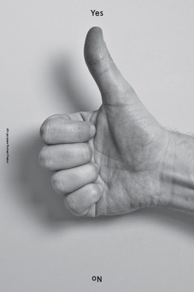 Yes + No, via Baubauhaus. #thumbs #yes #up #poster #no
