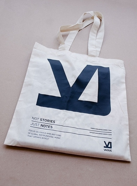 Vague Records bag | Flickr - Photo Sharing! #geometry #design #graphic #music #typography