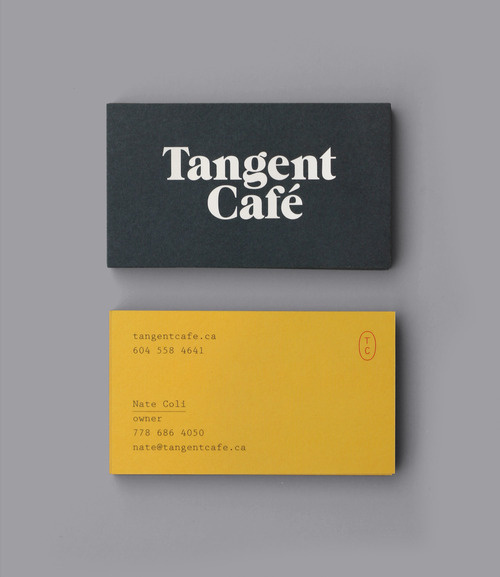 edeux:Tangent Cafe, Fivethousand Fingers #business card