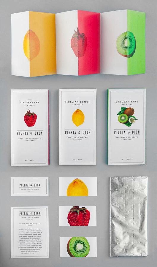 Pieria & Dion #pieria #visual #branding #packaging #school #of #design #graphic #fiction #dion #piera #chocolate #arts #wordmark