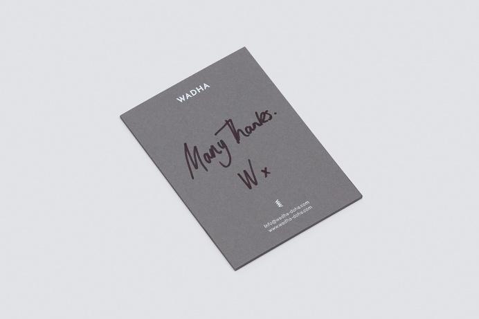 Wadha Doha Branding corporate design white black deluxe luxury minimal logo logotype Shopping Bag Two Times Elliott www.mindsparklemag.com