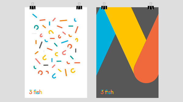 3 fish posters #smith #print #icons #rebrand #ideas #digital #business #modern #stationary #design #brand #identity #logo #web #creative #london #gf #colorplan #fun #colour #cards #typography #strategy #designer #graphic #posters