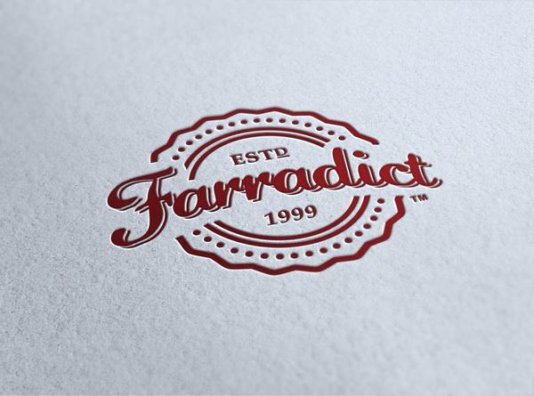 Farradict_letterpress #logo #letterpress #vintage #branding