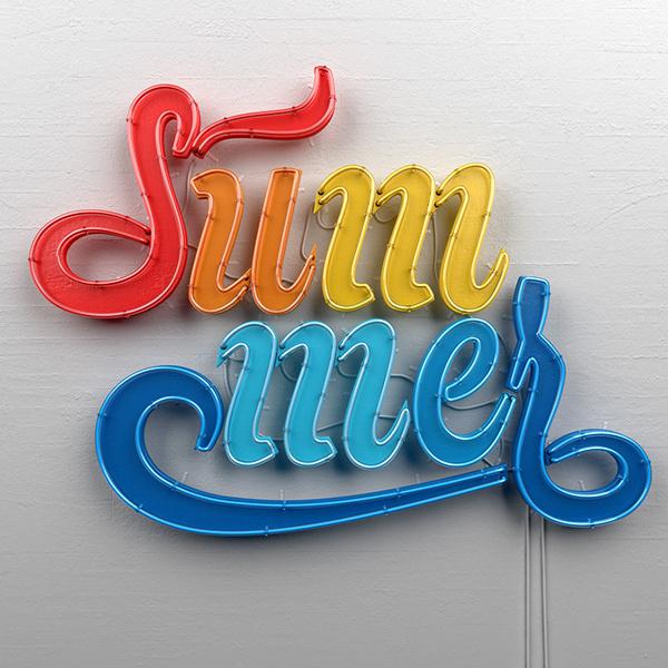 Summer on Behance #type #summer #neon