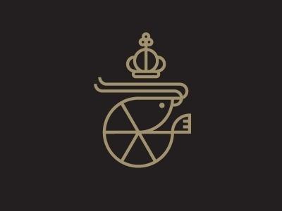 Shrimp #work #crown #vector #line #logo #king #shrimp