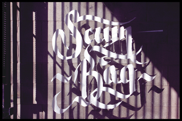 Floating Calligraphy on Typography Served #type #image