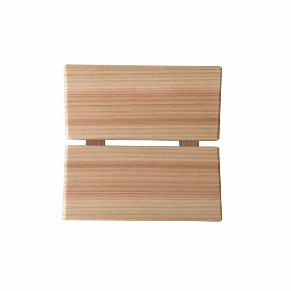 Hinoki Home Tray The Hinoki Home Tray brings a soft, natural touch to your home decor. Made of Hinoki (Japanese Cypress) wood, it is naturally antibacterial and resistant to rotting. It is ideal for holding soap, candles, jewelry, and so much more.