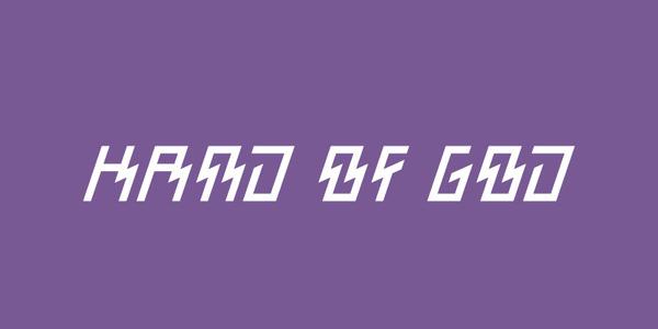 Hand of God, by Celeste Prevost #inspiration #creative #design #graphic #purple #god #hand #typography