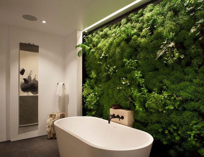 Moss Wall In Bathroom #interior #design #decor #deco #decoration