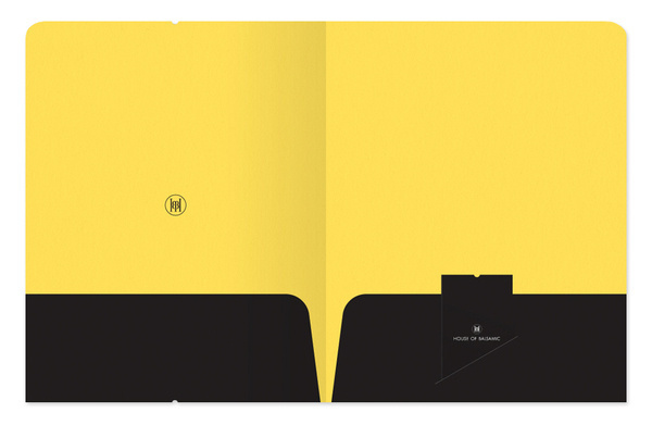 House Of Balsamic. on Behance #yellow #inside #folder