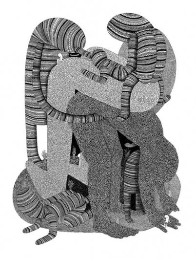 Buamai - Luke Ramsey - BOOOOOOOM! - CREATE * INSPIRE * COMMUNITY * ART * DESIGN * MUSIC * FILM * PHOTO * PROJECTS #ink #experimental #black #illustration #art