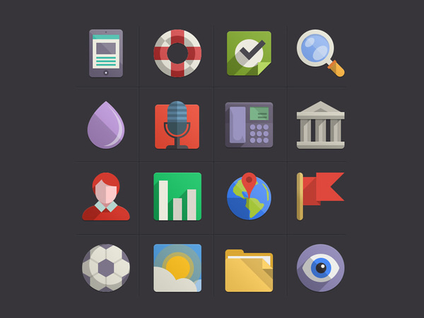 Flat Design Icons Set Vol4 #icons