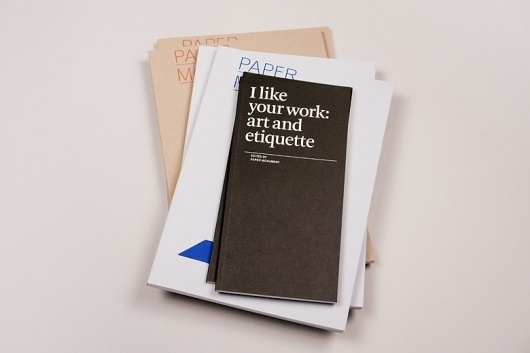 Project Projects — I like your work: art and etiquette #editorial #design #book #publication