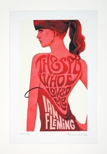 Awesome Robo!: 15 James Bond Pinup Prints By Michael Gillette #bond #james #poster #film #007