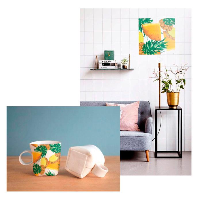 pineapple pattern #pattern #juicy #ceramics #fruit #tropic #poland #ppineapple #ukraine