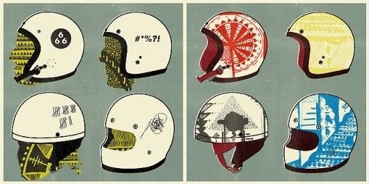 Ikhoor: The Portfolio of Daniel Kent #cmyk #print #silkscreen #motorcycle