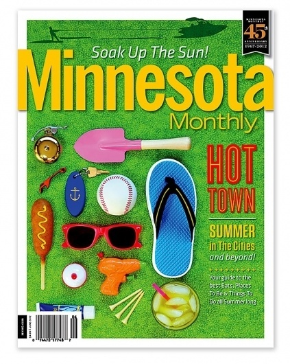 Minnesota Monthly : Matt Travaille : Graphic Design | Minneapolis #travaille #minnesota #sunglasses #cover #summer #baseball #magazine