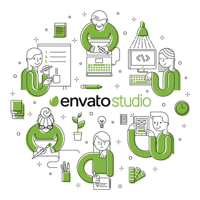 best geometric illustrations envato studio provider images on, Powerpoint templates
