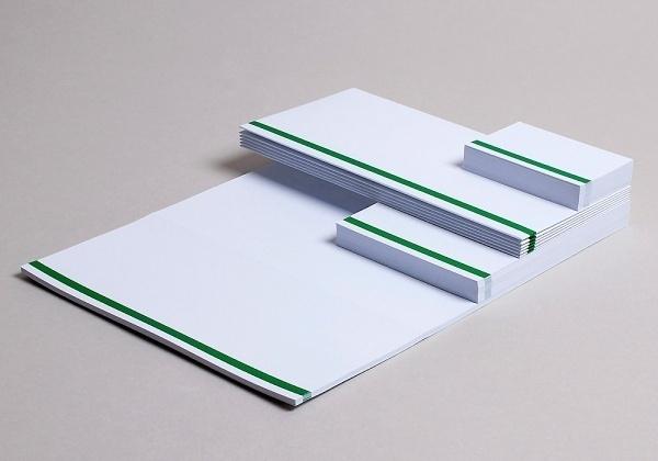 Collate #letterhead #identity #green