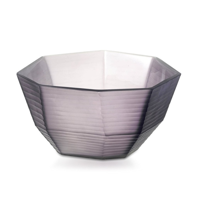 Bowl Plaza Glass Purple 27cm x 4cm
