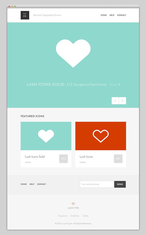 Lush Type #website #layout #design #web