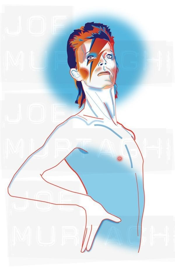 Joe Murtagh Vector Illustrations - David Bowie #graphics #illustration #vector #bowie