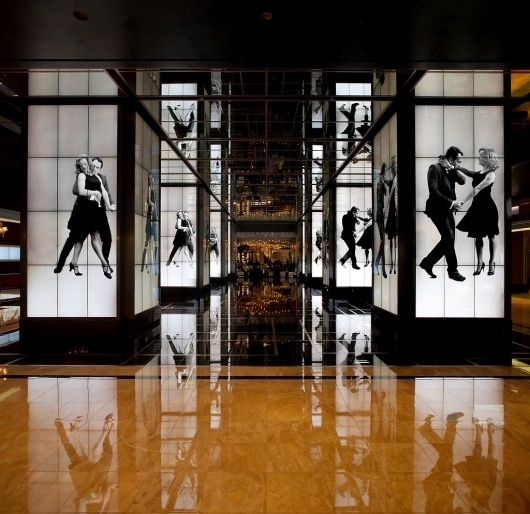 Cosmopolitan Hotel : somethingsavage #live #lobby #dance #direction #art #hotel #action