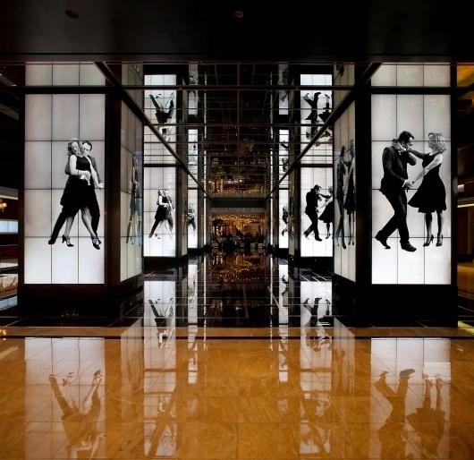 Cosmopolitan Hotel : somethingsavage #live #lobby #dance #direction #art #hotel #action