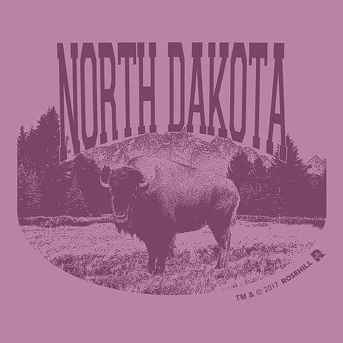 Illustration for t-shirt #tshirt #layout #illustration #buffalo #animal #North Dakota #vintage