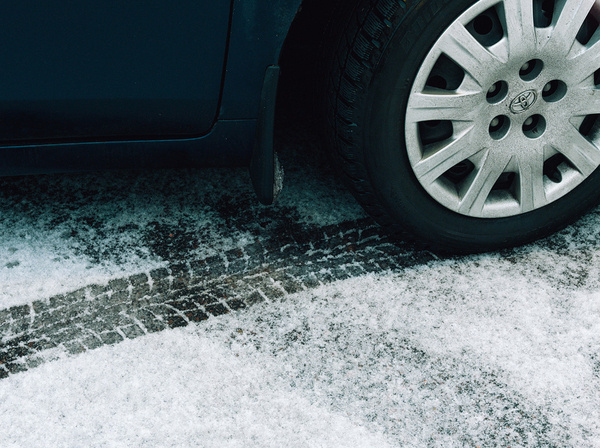 Johannes Romppanen | Foragepress.com #pattern #tire #tracks #photography #car #winter