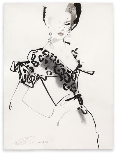 David Downton | Shiro to Kuro #fashion #illustration #black
