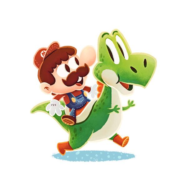 Videogame Heroes on Behance #mario #design #illustrations #character #yoshi