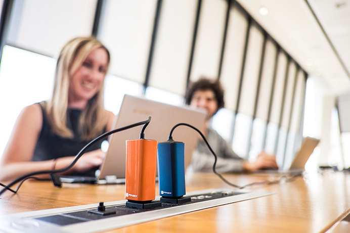 Replace traditional laptop adapters with this light and compact charger. They are easier to carry around because they take up less space. #modern #design #product #industrial #innovative