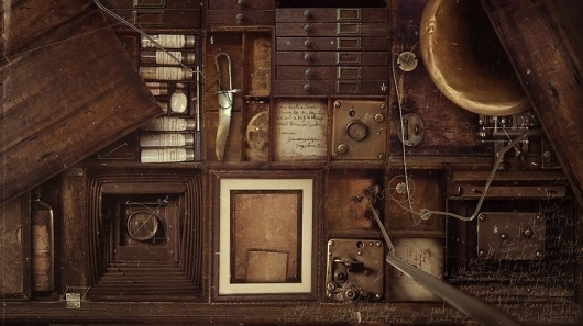 Graphic-ExchanGE - a selection of graphic projects #sepia #drawers #ephemera
